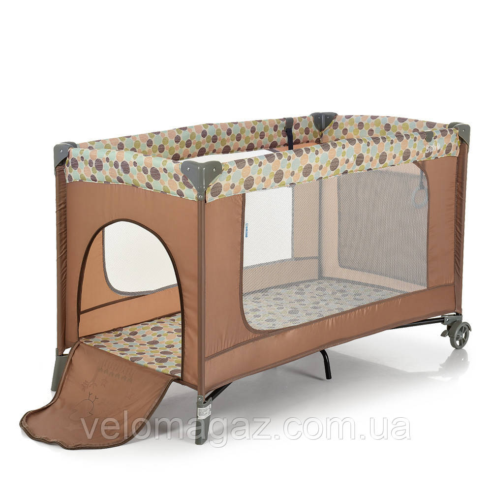 Манеж - ліжечко для малюків ME 1016 SAFE BEIGE BUBBLES