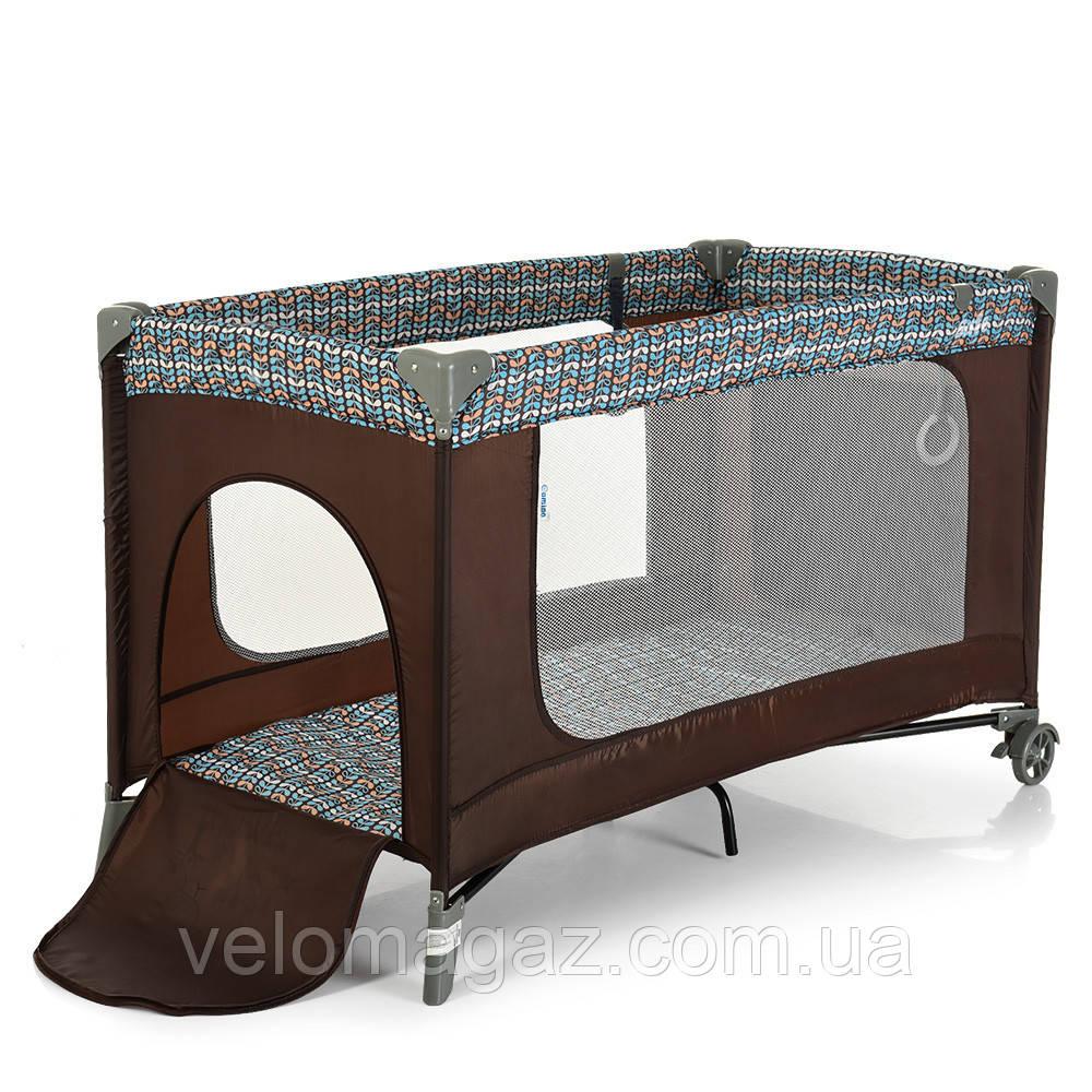 Манеж - кроватка для малышей ME 1016 SAFE COFFE TREE