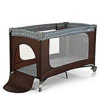 Манеж - кроватка для малышей ME 1016 SAFE COFFE TREE, фото 1