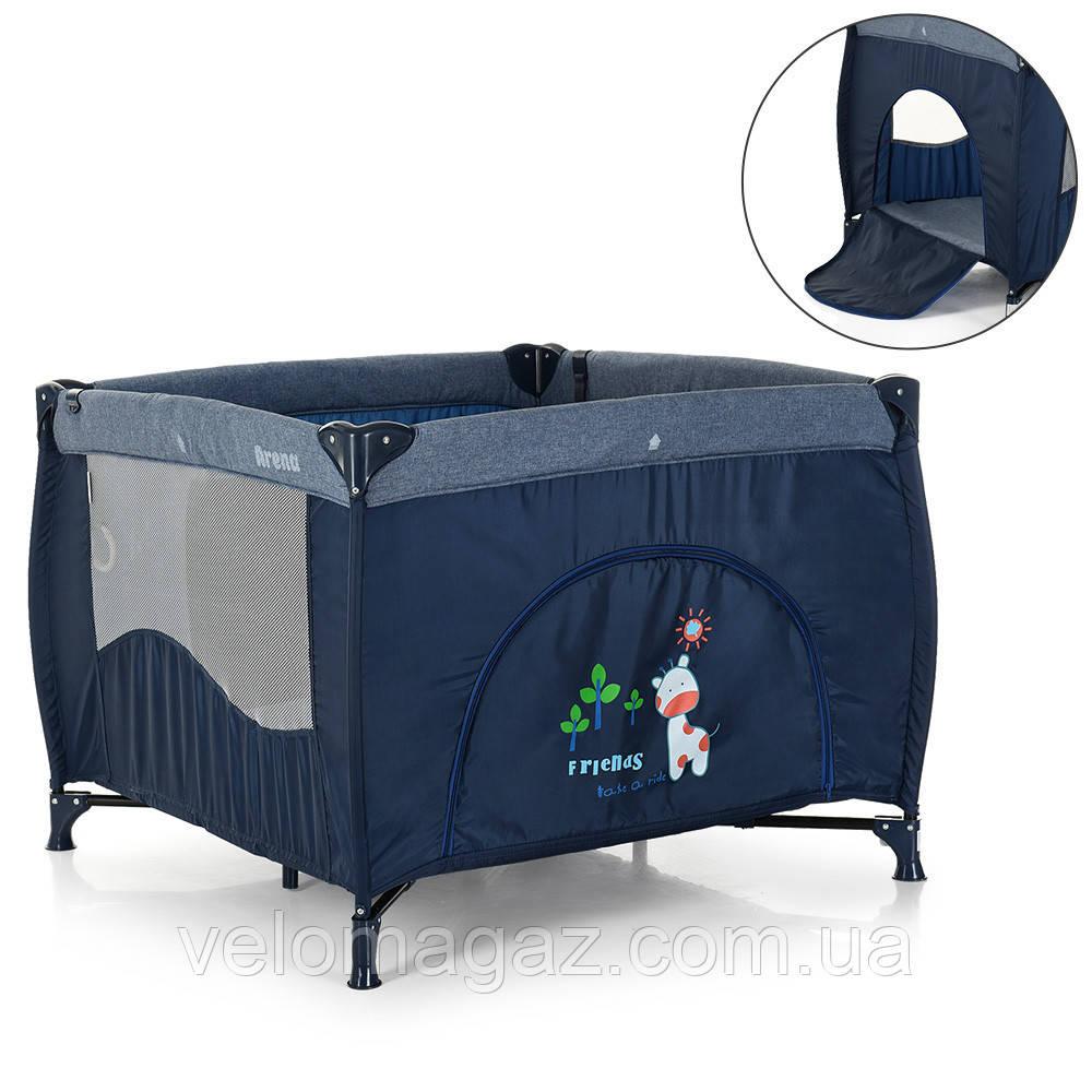 Манеж - ліжечко для малюків ME 1030 ARENA BLUE LEN