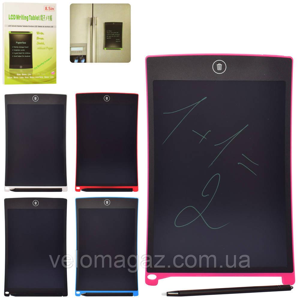 """Детский планшет LCD 8.5 """" с магнитным креплением, для рисования со стилосом B085A"""