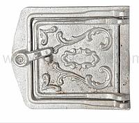 Чугунная дверца для чистки сажи, прочистная, сажетруска, алюминиевая 145х160 (0,39кг)