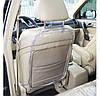 Защита на спинку сиденья в машину + на сидушку (серый), фото 3