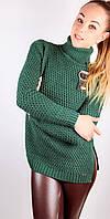 Теплый  женский свитер под горло.Турция!