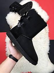 Женские сапоги зимние UGG Bailey Bow 2 (черный)