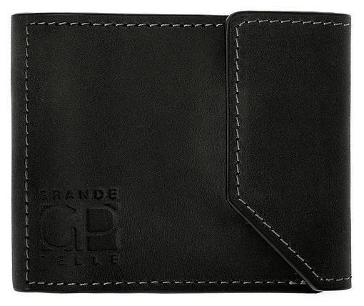 Зажим для купюр из матовой кожи Grande Pelle черный (120110), фото 2