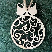 Деревянные новогодние украшения Shasheltoys Шар 9 см (010240)