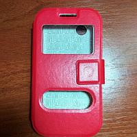 Чехол книжка на Lenovo A369 красный защитный чехол для мобильного телефона.