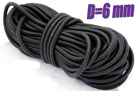 Эластичный шнур,резинка,эспандер для тентов,стретч корд,шок корд, трос 6мм, 10 метров