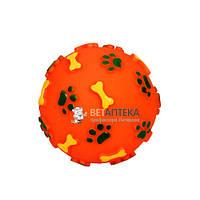Игрушка для собак Мяч с лапкой и косточкой 12 см FOX 717001