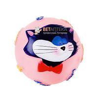 Игрушка для собак Мяч с мордой кота 8 см 714004