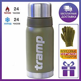 Термос Tramp (трамп) 0,5 л. Олива (держит 24 часа) + подарок
