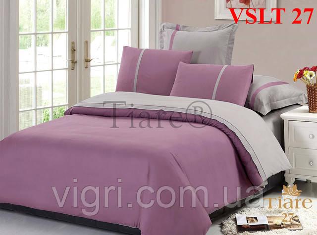 Постельное белье однотонное, евро комплект, сатин люкс Tiare, Вилюта. VSLT 27