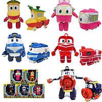 """Роботы Поезда трансформеры """"Robot Trains"""" комплект 5шт, герои мультфильма Робот Трейнс"""