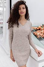 Жіноча в'язана сукня до колін довгий рукав пряжа Італія Estilo Diani розмір єдиний з-м