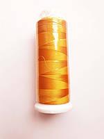Нитки для машинной вышивки 100% вискоза (100% rayon) 3000 ярдів, №125, оранжевий світлий
