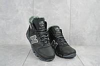 Подростковые кроссовки кожаные зимние черные-серые New Mercury круз