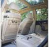 Набор - Защитный чехол на спинку переднего сиденья автомобиля и сидушку (бежевый), фото 2