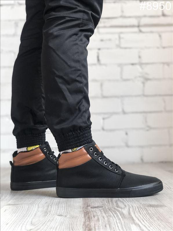 Ботинки мужские зимние Vintage Black WNTR. ТОП качество!!! Реплика