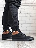 Ботинки мужские зимние Vintage Black WNTR. ТОП качество!!! Реплика, фото 1