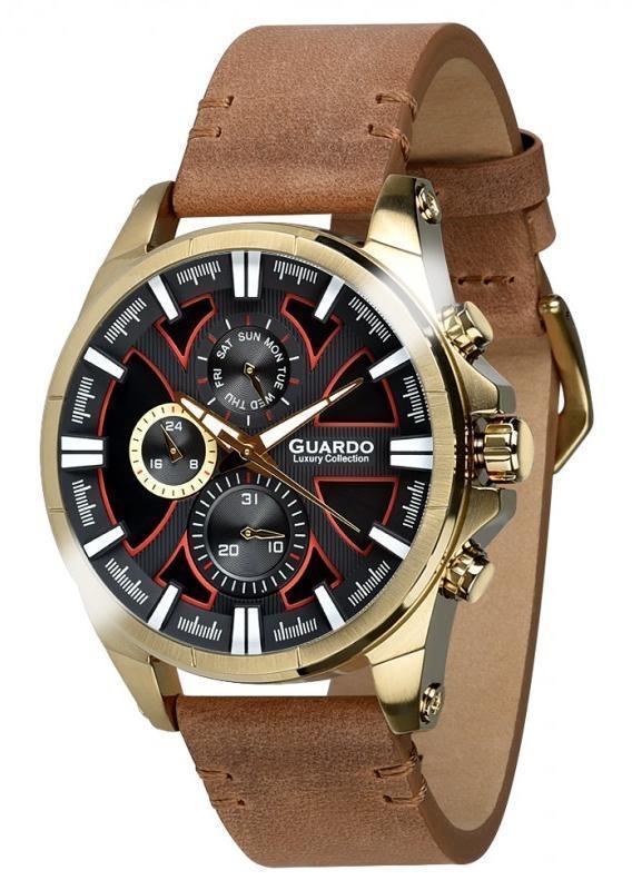 Часы мужские Guardo S01631-4 золотые