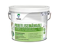 Краска акрилатная TEKNOS PANELLISEINA MAALI для древесины и радиаторов отопления белая (база 1) 2,7л