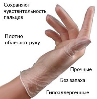 Виниловые перчатки Чила оптом