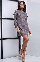 Молодёжное платье из трикотажной ткани с блеском
