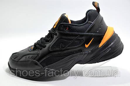 Зимние кроссовки в стиле Nike M2K Tekno, Black\Orange, фото 2