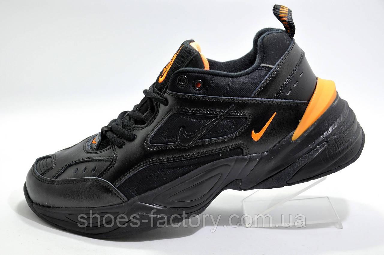 Зимние кроссовки в стиле Nike M2K Tekno, Black\Orange