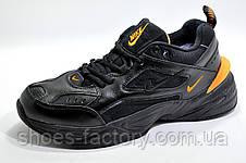 Зимние кроссовки в стиле Nike M2K Tekno, Black\Orange, фото 3