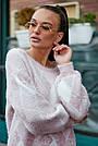 Красивый женский свитер с ромбами, розовый р.42-48, вязка, фото 2