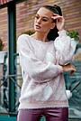 Красивый женский свитер с ромбами, розовый р.42-48, вязка, фото 3