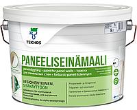 Краска акрилатная TEKNOS PANELLISEINA MAALI для древесины и радиаторов отопления белая (база 1) 9л