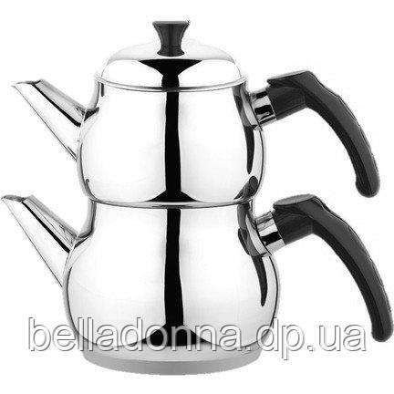 Двухъярусный чайник турецкий (1,85 л /1,25 л) Besa