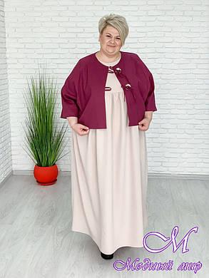 Женская льняная куртка большого размера (р. 42-90) арт. Фреш, фото 2