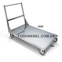 Тележка грузовая платформенная из нержавеющей стали, фото 1
