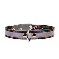 Ошейник Collar черный одинарный со светоотражающей полосой 20 мм 320-40 cм 01551