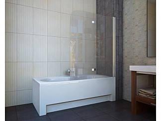 Шторка на ванну QP97(left) двух элемент 1150x1400 chrome; clear, фото 2