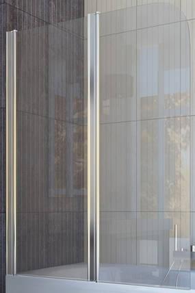 Шторка на ванну QP95(left) двух элемент 1150x1400 chrome; clear, фото 2