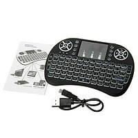 Беспроводная клавиатура i8 + touch, фото 1
