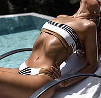 Женский раздельный купальник бандо оптом и в розницу, фото 1