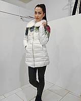 Женская  куртка с меховым воротником