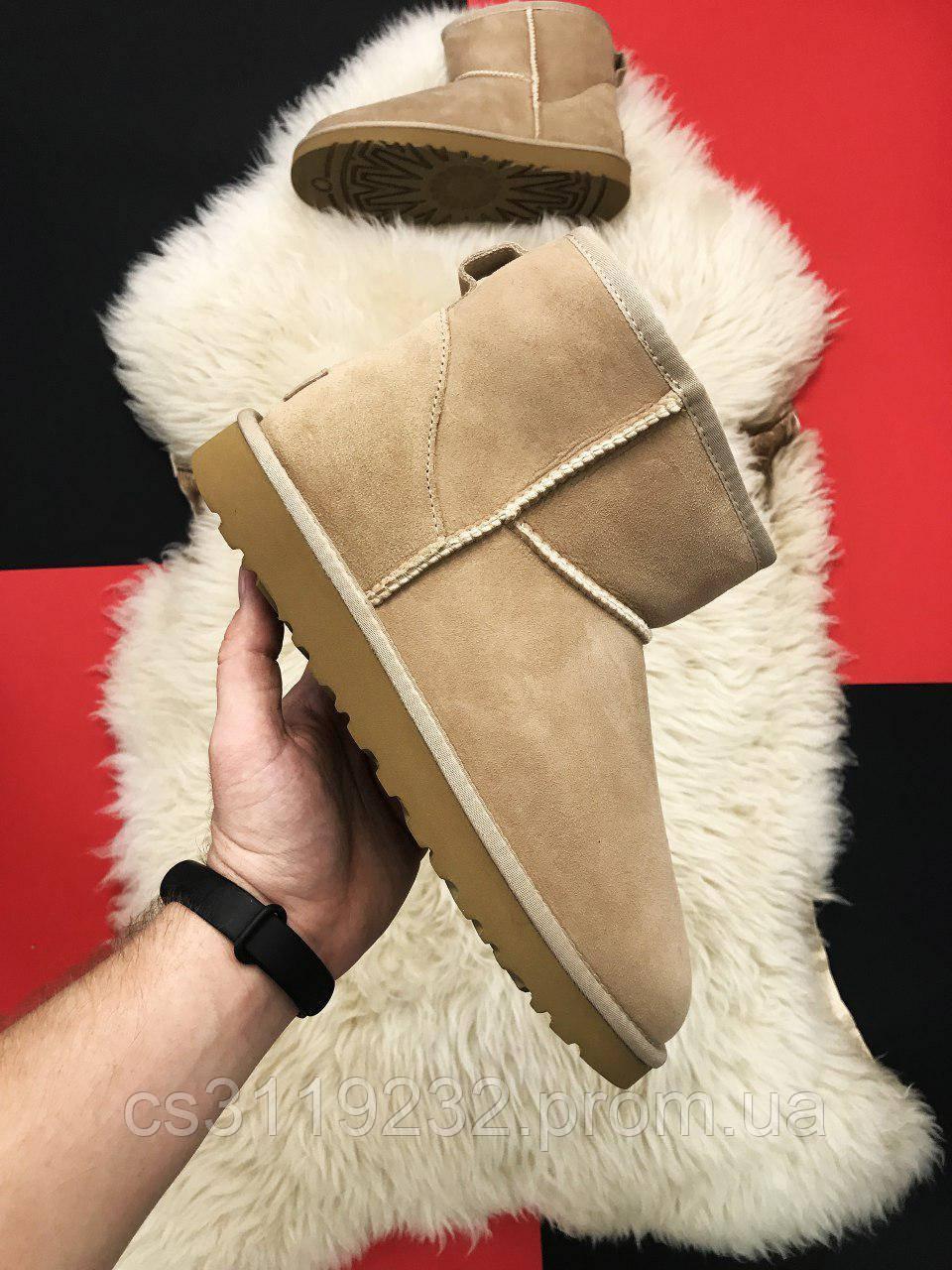 Жіночі чоботи зимові UGG Classic 2 Mini (бежеві)