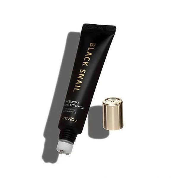 Сыворотка для кожи вокруг глаз с муцином черной улитки FarmStay Black Snail Premium Rolling Eye Serum, 25ml