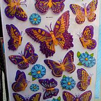 Бабочки 3Д -Комнатный декор