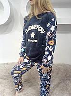 Женская молодежная теплая пижама