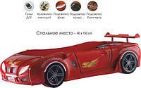 Кровать-машина  Embawood Форсаж с подсветкой фар красная