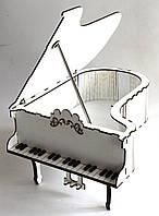 Шкатулка Рояль из мдф белого цвета больша Kalinin арт 120