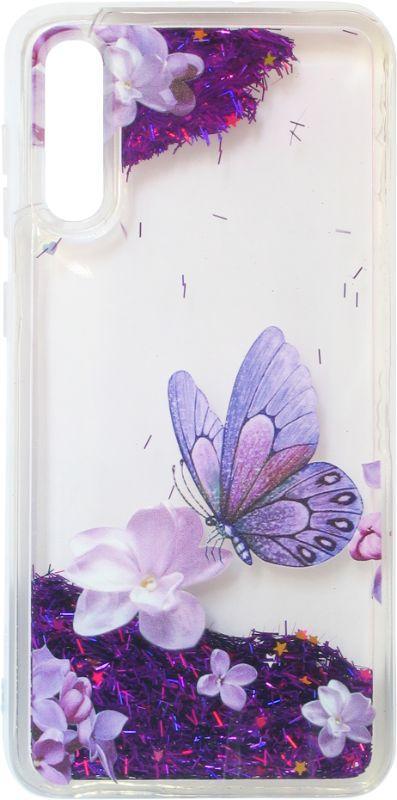 Накладка SA A505/A307 violet baterfly аквариум